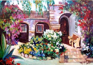 Original Oil Paintings Of California Missions By Laguna